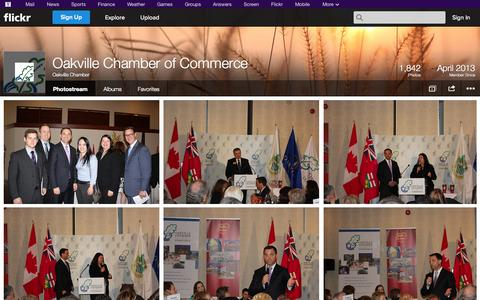 Screenshot of Flickr Page flickr.com - Flickr: Oakville Chamber's Photostream - captured Oct. 27, 2014