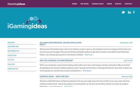 Screenshot of Press Page igamingideas.com - iGaming Ideas  News Articles - captured Jan. 9, 2016