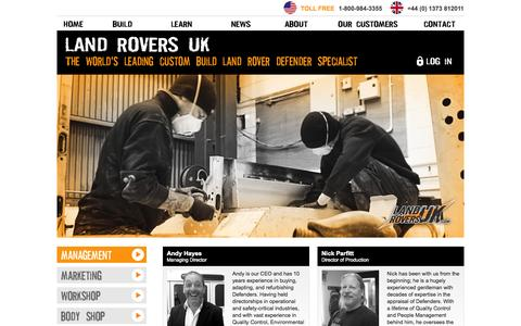Screenshot of Team Page landroversuk.co.uk - Landrovers UK - Land Rovers, Range Rovers, 4x4 Vehicles for Sale - captured Nov. 4, 2014