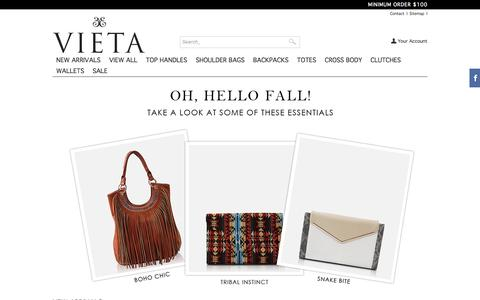 Screenshot of Home Page vietafashion.com - VIETA Fashion - VIETA - captured Oct. 7, 2014