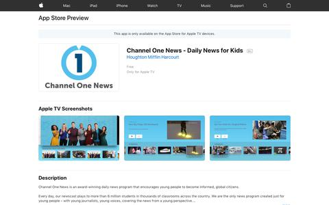 Channel One News - Daily News for Kids on the App Store