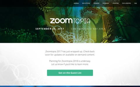 Zoomtopia | Join Zoom for our 2017 Zoom User Conference