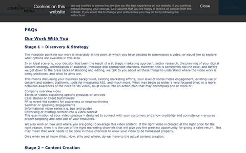 Screenshot of FAQ Page londoncorporatemedia.co.uk - Company video production FAQ from London Corporate Media - captured July 23, 2018