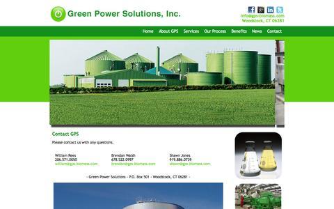 Screenshot of Contact Page gps-biomass.com - Green Power Solutions | Contact - captured Oct. 3, 2014