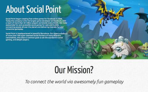 Screenshot of Contact Page socialpoint.es - About Us: Social Point developer company - captured Oct. 29, 2015
