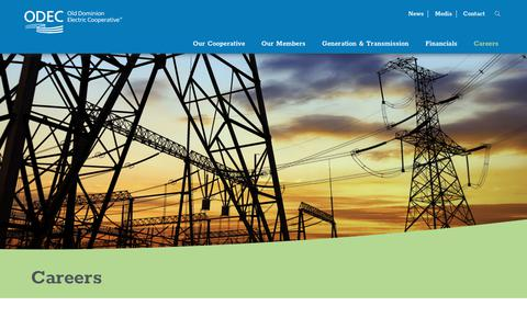 Screenshot of Jobs Page odec.com - Energy Careers - Old Dominion Electric Cooperative (ODEC) - captured June 18, 2018