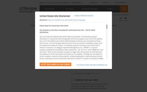 Your Subscription Preferences -   J.P. Morgan Institutional Asset Management