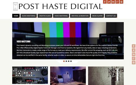 Screenshot of Home Page posthastedigital.com - PostHaste.Digital – Offering a wide range of services, talent, and support - captured May 19, 2017