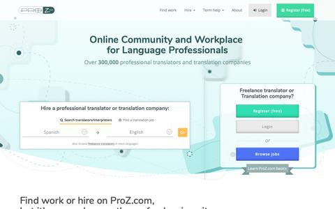 Freelance translators & Translation companies | ProZ.com