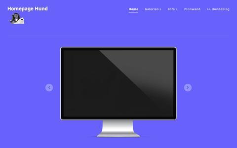 Screenshot of Home Page homepage-hund.de - Homepage Hund - Lustige Bilder, Fotos & Fotomontagen - captured June 11, 2016