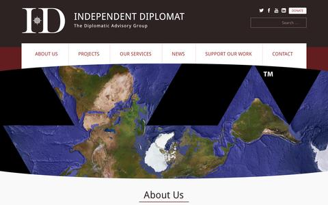 Screenshot of About Page independentdiplomat.org - About Us | Independent Diplomat - captured May 28, 2017
