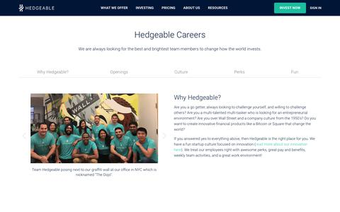 Hedgeable | Careers