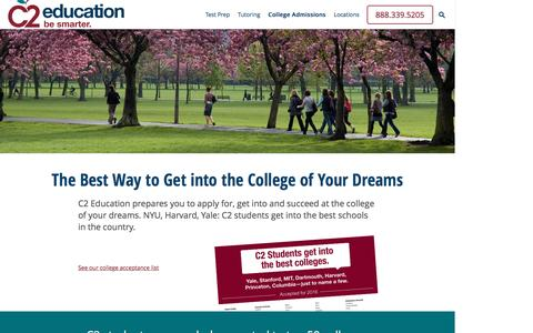 Screenshot of c2educate.com - College Admissions | C2 Education - captured March 18, 2017