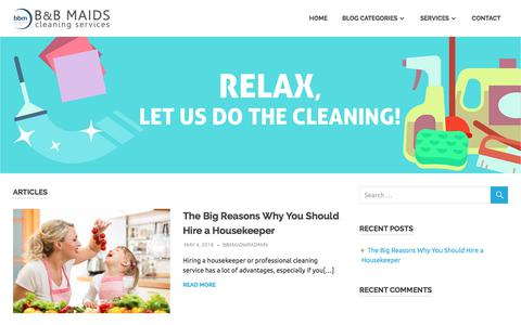 Screenshot of Blog bbmaidservice.com - | RELAX, LET US DO THE CLEANING! - captured Sept. 25, 2018