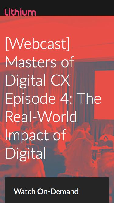 [Webcast] Masters of Digital CX Episode 4: The Real-World Impact of Digital