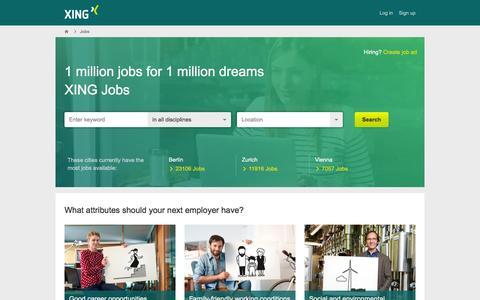 Screenshot of Jobs Page xing.com - Jobs: Find current vacancies in XING Jobs! - captured Dec. 2, 2015