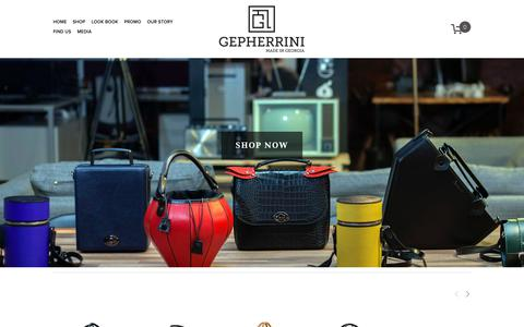 Screenshot of Home Page gepherrini.com - Leather Handbags Gepherrini - captured Nov. 2, 2018