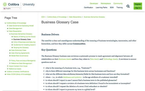 Screenshot of Case Studies Page collibra.com - Business Glossary Case – Collibra University - captured Feb. 12, 2020