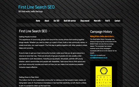 Screenshot of Home Page firstlinesearch.co.uk - First Line Search SEO- SEO that works, traffic that buysUK - captured Oct. 6, 2014