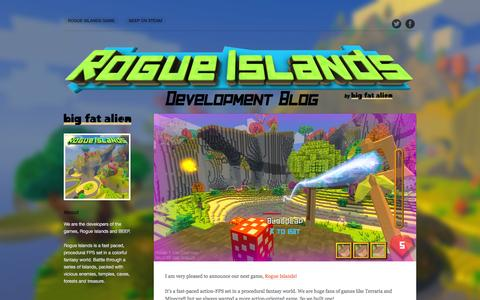 Screenshot of Home Page bigfatalien.com - Big Fat Alien Dev Blog - captured July 28, 2016