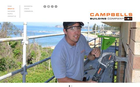 Screenshot of About Page campbellsbuilding.com.au - About Us | Campbell's Building Company - captured Sept. 26, 2018