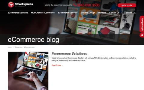 Screenshot of Blog storeexpress.co.uk - Ecommerce Solutions Blog | Store Express Blog | Multi-channel Ecommerce Info - captured Aug. 17, 2016
