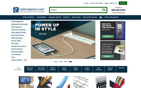 Screenshot of Home Page cableorganizer.com - CableOrganizer.com - The Best Prices on Wire Management Solutions - captured Nov. 3, 2018