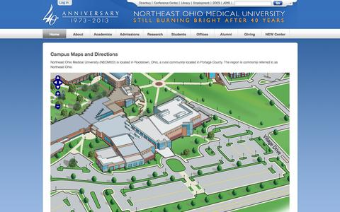 Screenshot of Maps & Directions Page neomed.edu - NEOMED - captured Oct. 28, 2014