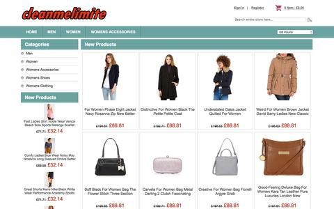 Screenshot of Home Page cleanmelimited.co.uk - Clothing,Popular Single Product Hot,Jeans,Handbags,Accessories | Soldes - captured July 18, 2018
