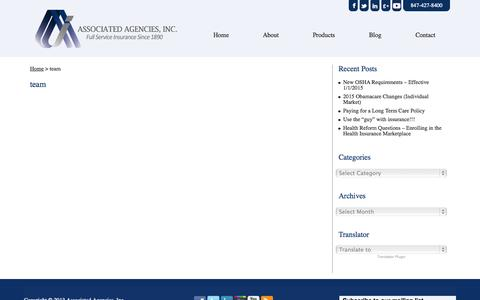 Screenshot of Team Page associated.cc - team | Associated Agencies, Inc. - captured Nov. 2, 2014