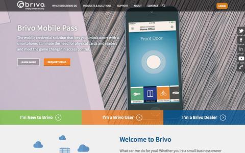 Screenshot of Home Page brivo.com - Home - Brivo - captured Oct. 29, 2015