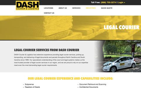 Screenshot of Terms Page dashcourier.com - Legal Courier - Delivering Law Documents | DASH Courier - captured Oct. 7, 2018