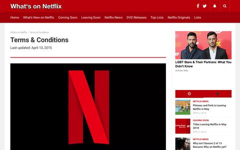 Terms & Conditions - What's on Netflix