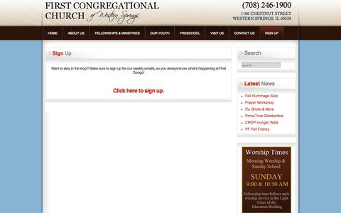 Screenshot of Signup Page wscongo.org - Sign Up - captured Oct. 6, 2014