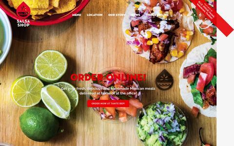 Screenshot of Home Page salsashop.nl - SALSA SHOP | Fresh Mexican Kitchen | - captured Aug. 2, 2015