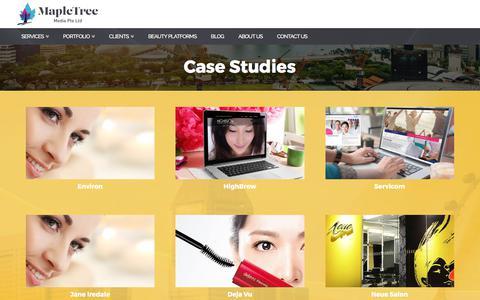 Screenshot of Case Studies Page mapletreemedia.com - Case Studies ⋆ Mapletree Media - captured Oct. 17, 2017