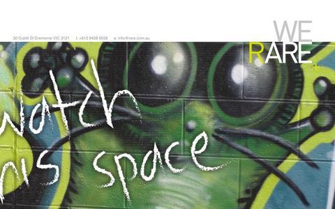 Screenshot of Home Page rare.com.au - raremedia - Home - captured Oct. 9, 2014