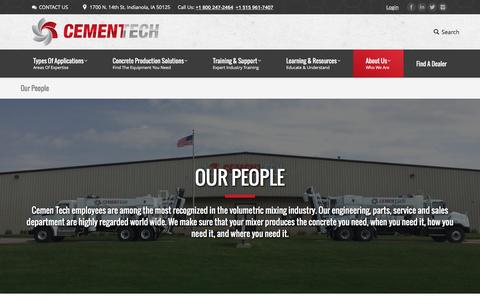 Screenshot of Team Page cementech.com - Our best resources are our people - captured Oct. 28, 2016