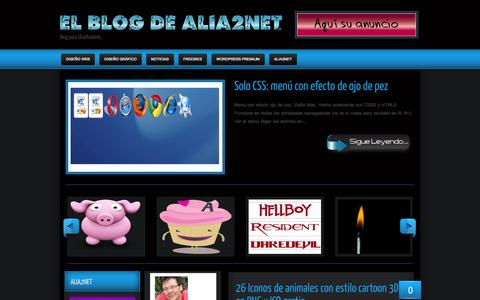 Screenshot of Blog alia2net.com - alia2net - captured Sept. 30, 2014