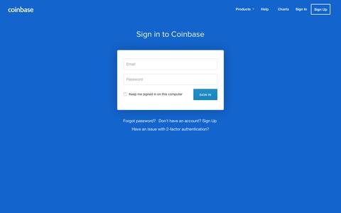 Screenshot of Login Page coinbase.com - Coinbase - Buy/Sell Digital Currency - captured Nov. 22, 2017