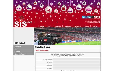 Screenshot of Signup Page sislive.tv - SIS LIVE - Circular sign-up - captured Dec. 19, 2015