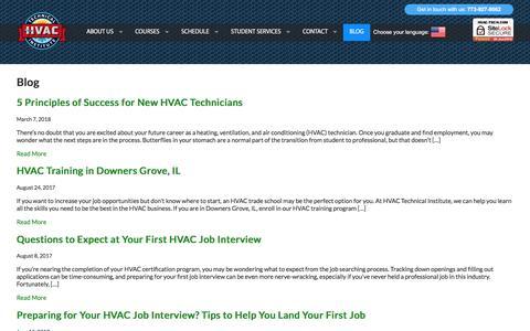 Screenshot of Blog hvac-tech.com - Blog - captured May 1, 2018