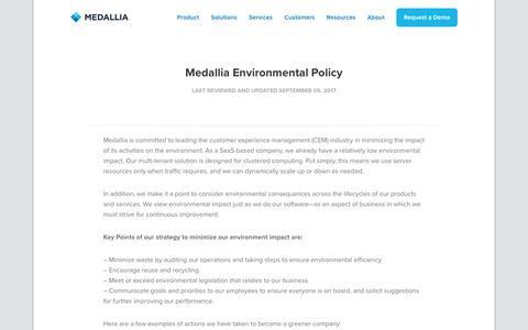 Medallia Environmental Policy - Medallia