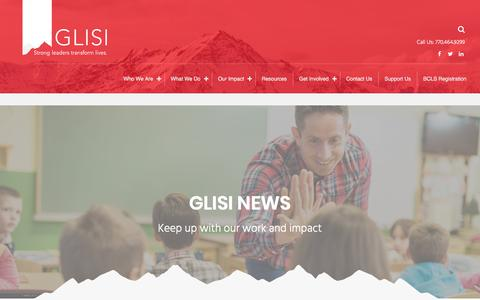 Screenshot of Press Page glisi.org - GLISI News – GLISI - captured Sept. 26, 2018