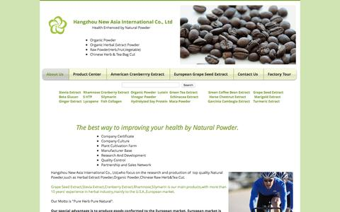 Screenshot of Home Page herbalsextract.com - Grape Seed Extract|Stevia Extract|Silymarin|Cranberry Extract||Lutein - captured Oct. 23, 2016
