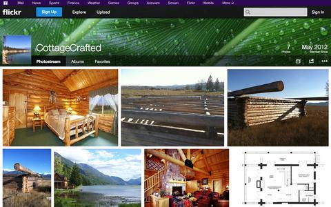 Screenshot of Flickr Page flickr.com - Flickr: CottageCrafted's Photostream - captured Oct. 22, 2014