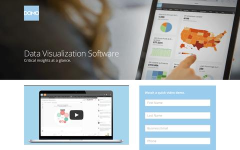 Screenshot of Landing Page domo.com - Data Visualization Software | Domo | Domo - captured June 22, 2016