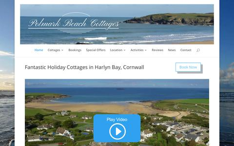 Screenshot of Home Page polmarkbeachcottages.co.uk - Holiday Cottages in Harlyn Bay, Cornwall | Polmark Beach Cottages - captured July 19, 2018