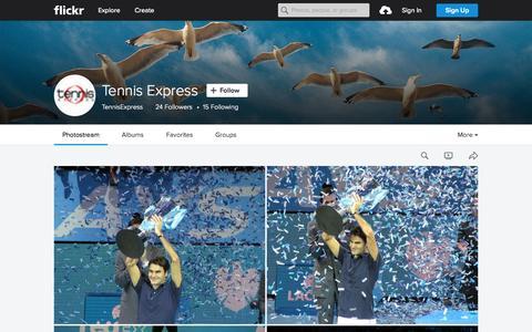 Screenshot of Flickr Page flickr.com - Tennis Express | Flickr - Photo Sharing! - captured Oct. 2, 2015