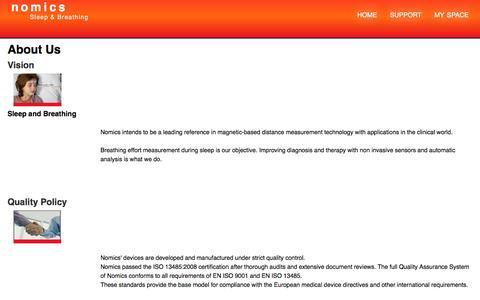 Screenshot of About Page nomics.be - Nomics ∴ Nomics Page View - captured May 10, 2017